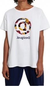T-shirt Desigual z krótkim rękawem z bawełny