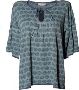 Bluzka Stefanel z okrągłym dekoltem w stylu casual z długim rękawem