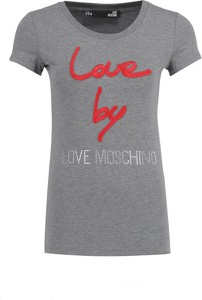 T-shirt Love Moschino w młodzieżowym stylu
