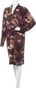 Sukienka Gerard Pasquier z długim rękawem mini w stylu casual