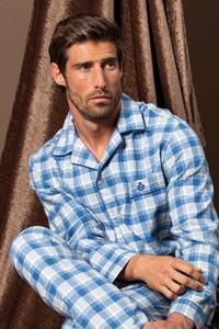 Niebieska piżama Softcotton