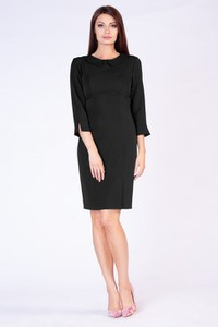 Czarna sukienka butik-choice.pl midi z okrągłym dekoltem
