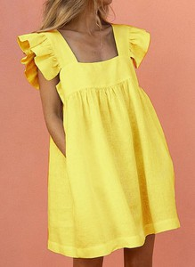 Żółta sukienka Sandbella gorsetowa mini