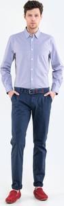 Niebieskie chinosy Big Star w stylu casual z tkaniny