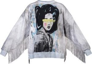 Bluza Robert Kupisz w młodzieżowym stylu z nadrukiem z bawełny