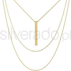 Silverado piękny, naszyjnik o trzech różnych długościach w kolorze 14k złota - 77-wa299g