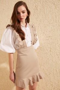 Brązowa sukienka Trendyol mini