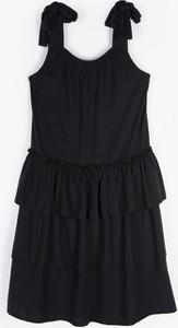 Czarna sukienka dziewczęca Gate