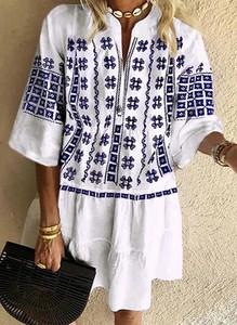 Sukienka Cikelly maxi z dekoltem w kształcie litery v w stylu boho
