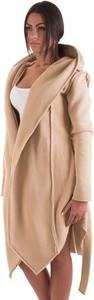 Brązowy sweter Theg Clothing z tkaniny