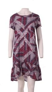 Sukienka Niren midi z krótkim rękawem w stylu casual