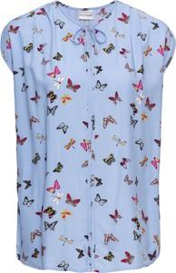 Błękitna bluzka bonprix bodyflirt z krótkim rękawem