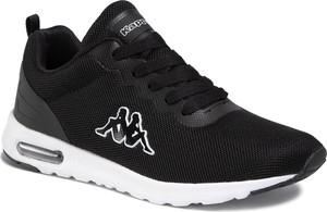 Czarne buty sportowe Kappa sznurowane z płaską podeszwą