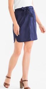 Niebieska spódnica YESSICA mini w stylu casual