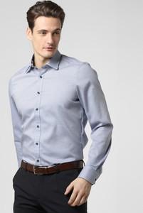 Niebieska koszula Finshley & Harding z klasycznym kołnierzykiem z długim rękawem