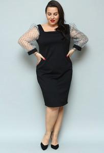 Czarna sukienka KARKO z tkaniny