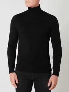 Czarny sweter McNeal z golfem w stylu casual