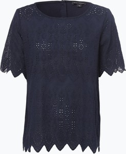 Niebieski t-shirt Franco Callegari w stylu boho