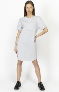 Sukienka Armani Exchange z okrągłym dekoltem prosta