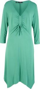 Sukienka bonprix bpc bonprix collection midi z dekoltem w kształcie litery v w stylu casual