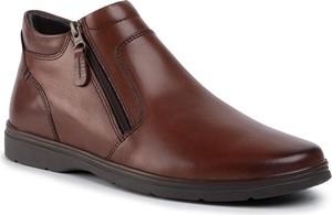 Czerwone buty zimowe Lasocki For Men