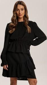 Czarna sukienka Renee z długim rękawem