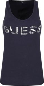 Bluzka Guess Jeans z dekoltem w kształcie litery v