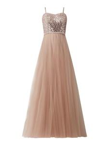 Sukienka Luxuar gorsetowa z tiulu