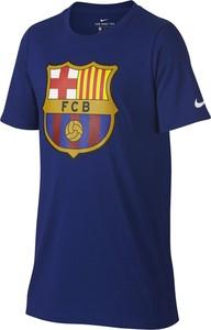 Granatowa koszulka dziecięca Nike z dzianiny