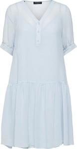 Niebieska sukienka Selected Femme mini z dekoltem w kształcie litery v w stylu casual