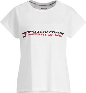 T-shirt Tommy Sport w stylu casual z krótkim rękawem