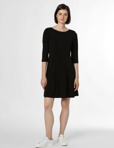 Czarna sukienka Vila w stylu casual mini z okrągłym dekoltem