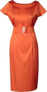 Pomarańczowa sukienka Fokus midi