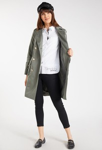 Zielony płaszcz Monnari w stylu casual