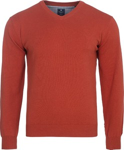 Czerwony sweter Redmond z bawełny w stylu casual