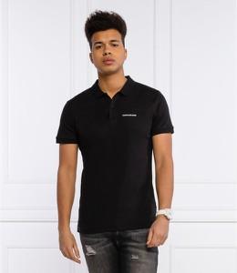 Czarna koszulka polo Calvin Klein z bawełny
