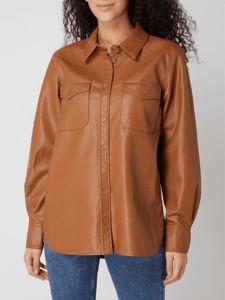 Brązowa kurtka Tom Tailor Denim w stylu casual ze skóry ekologicznej