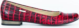 Baleriny Zapato w stylu klasycznym ze skóry z płaską podeszwą