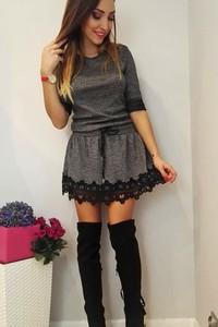 Sukienka FidoStyle oversize z dzianiny mini