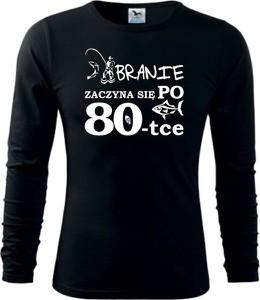 Koszulka z długim rękawem TopKoszulki.pl z bawełny