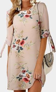 Sukienka Arilook mini z bawełny z okrągłym dekoltem