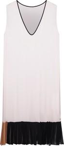 """Sukienka Twin-set Sukienka """"transparent Dress"""" z tkaniny mini bez rękawów"""