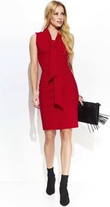 e68a70a837 Czerwone sukienki z dekoltem w kształcie litery v Makadamia ...