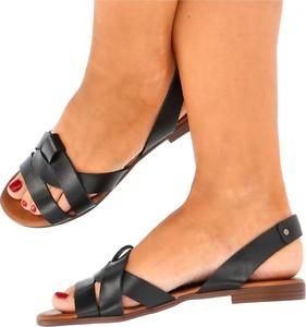 Sandały Lemar z płaską podeszwą ze skóry