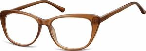 Stylion Oprawki korekcyjne Kocie Oczy zerówki Sunoptic CP129E brązowe
