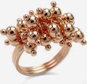 Braccatta FIGIEL Srebrny pierścionek z różowym złotem