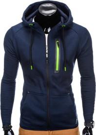 Granatowa bluza ombre clothing w street stylu