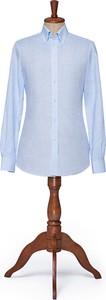 Koszula LANCERTO z tkaniny z długim rękawem z kołnierzykiem button down