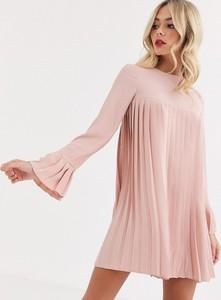 Sukienka Asos Design z długim rękawem z okrągłym dekoltem