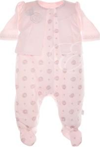 Ewa Collection Pajac niemowlęcy KLARA róż NewYorkStyle